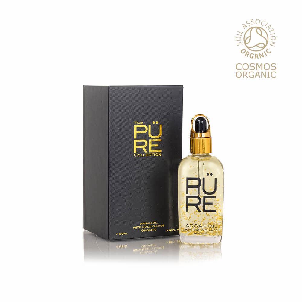 Argan Oil 100% Certified Organic With 22kt Gold Flakes 100 ml