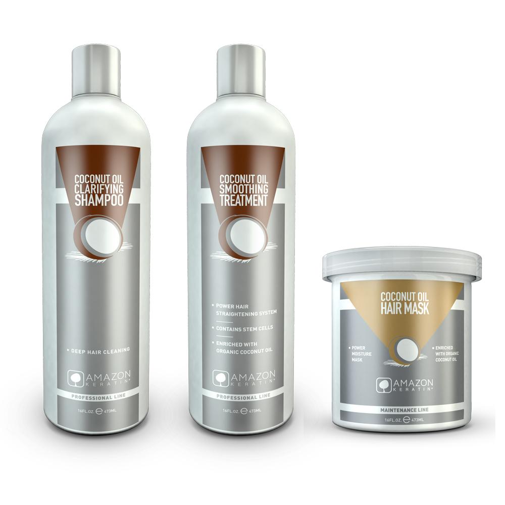 Coconut Keratin Straightening Treatment Kit